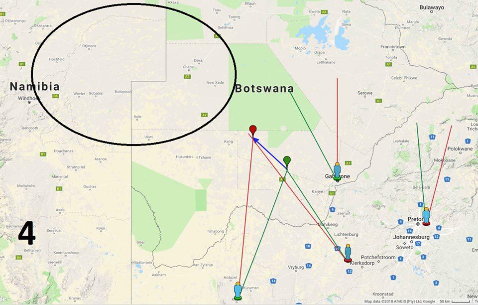 Mapa da área do impacto. Crédito: SONEAR