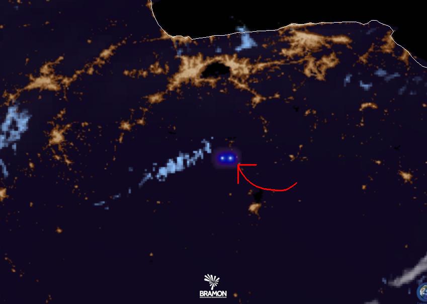 Anomalia detectada pelo GOES-16